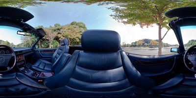 W124カブリオレの運転席360度パノラマ