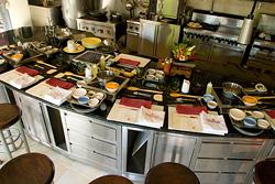 クッキングスクールの厨房