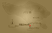 バリ島スミニャックの場所