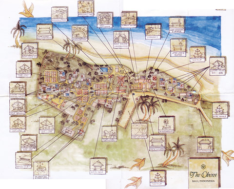 笑ってしまったオベロイのResort Map