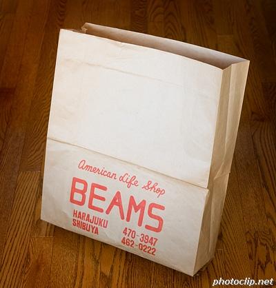 発掘系紙袋 「BEAMS」