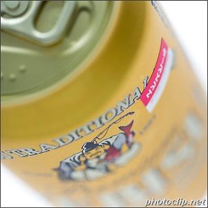 エビス缶ビールに貼られている小さなシール