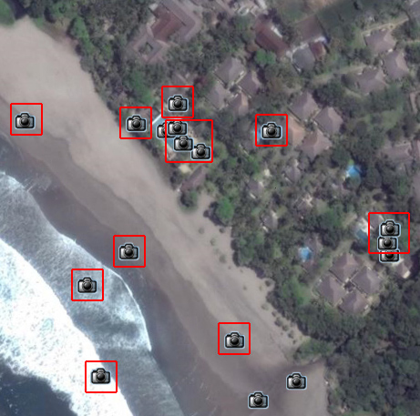 Google Earth の The Oberoi Bali