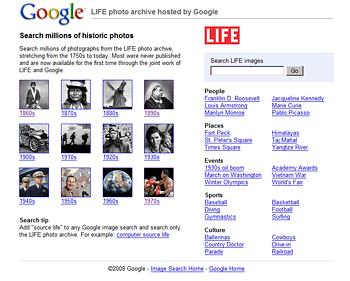 GoogleでLIFEの写真検索が可能に