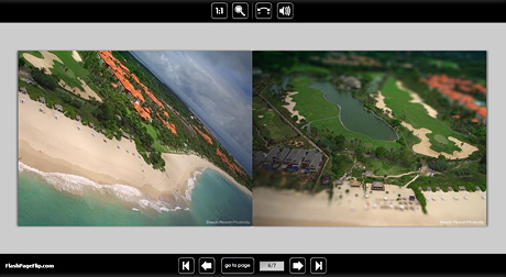 Picasa HTMLテンプレート:Flash Page Flip Gallery