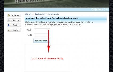 『dfGallery 2.0』 をブログ上に embed してみました