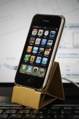 iPhoneのペーパースタンドを作ってみたよ