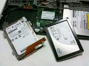 SSDに換装したちょっと古いVAIO