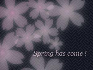 サイトの左上に桜を咲かせました
