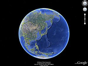 Google Earth: ここらで今まで行ったホテルの緯度経度をまとめてみよう