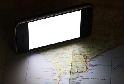 面光源は照度の低いところでメニューや地図を見るときに便利です