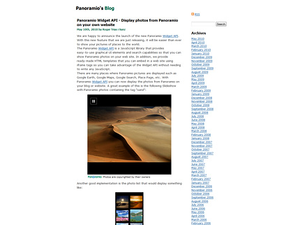 Panoramio Widget API - Display photos from Panoramio on your own website