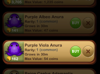 Purple Viola Anura を Catalog から調達