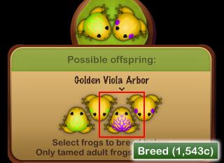 最終目的である Golden Viola Arbor を誕生させる