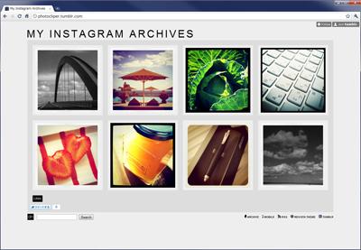 tumblr.でInstagramの写真一覧に向いていそうなTheme