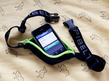 iPhone App:Runkeeper+SPIBELT=Go for a run