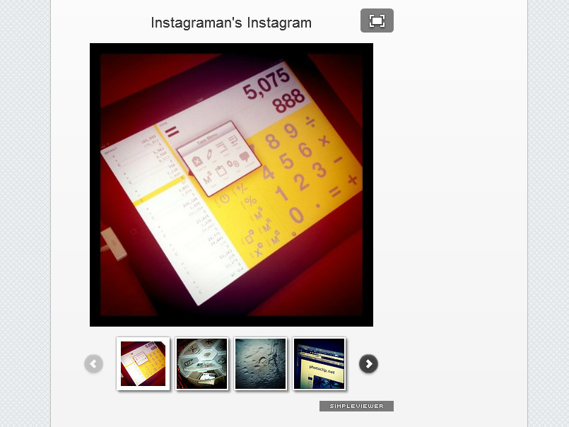 InstagramからFlickrに同時ポストしてSimpleViewerをつかって表示