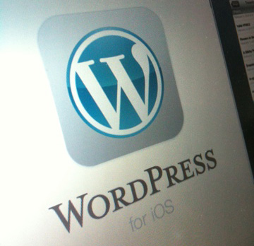 WordPress iOSはタップ4回、tumblr.は6回