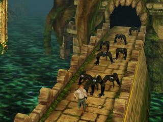 iPhoneアプリ [Temple Run] ゲームの中でも走って走って走りまくれるぞ