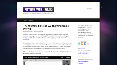 The Ultimate bbPress 2.0 Theming Guide - Future Web Blog