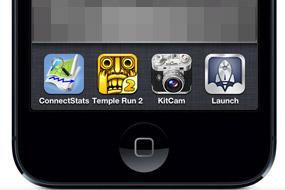 起動しているアプリアイコンが表示される