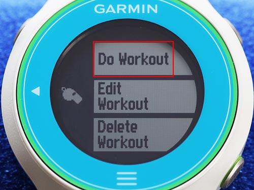 Do Workoutを押してワークアウト絵をスタートする