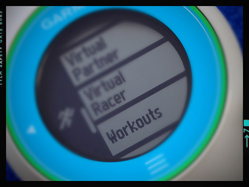 Garmin Forerunner 610 - Workouts