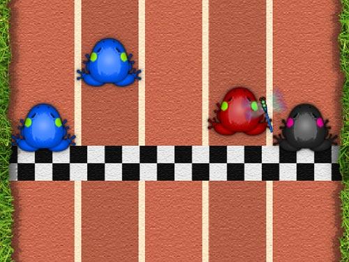 Pocket Frogs、Raceで勝利したら2匹同時にタップしてみて
