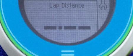 下段に「Lap Distance」を表示させるには