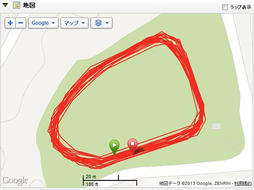 [Garmin Forerunner 610] 周回レースや周回を重ねる練習で使えそうなページを作ってみる