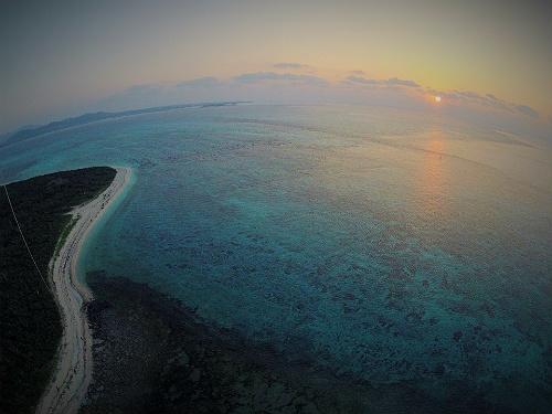 凧って写真 – アイヤル浜の初日の出