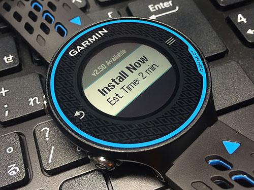 Garmin Forerunner 620 浅いレビュー(14) SW2.5のダウンロードはWi-Fi経由で行われていた