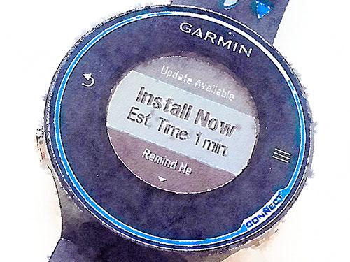 Garmin Forerunner 620 浅いレビュー(15) GPS3.0のダウンロードもWi-Fi経由で行われた