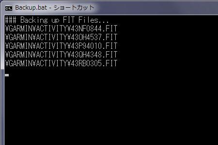 FITファイルをDropboxにコピー中