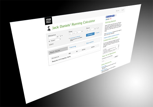 Jack Daniels' Running Calculator