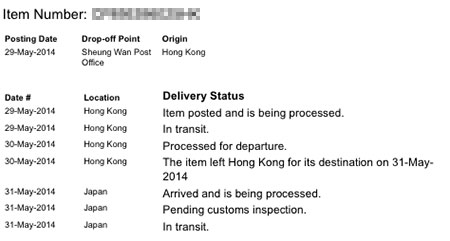 Mail Tracking