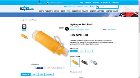 Hydrapak Soft Flask | RacingThePlanet