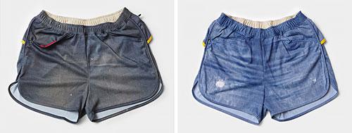Denim Run Pants 60 3inch(左)と70 3inch(右)