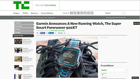 Garmin Announces A New Running Watch, The Super Smart Forerunner 920XT | TechCrunch