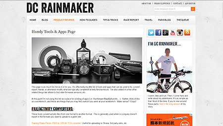 Handy Tools & Apps Page | DC Rainmaker