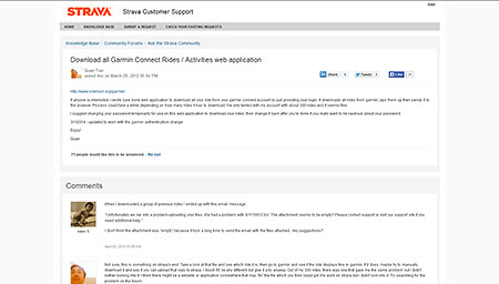Download all Garmin Connect Rides / Activities web application : Strava Customer Support