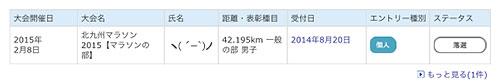 北九州マラソン2015-落選