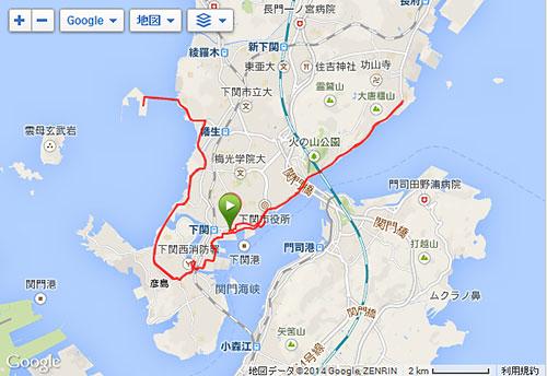下関海響マラソン2014のコース