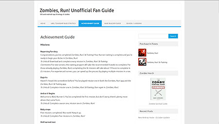 Achievement Guide | Zombies, Run! Unofficial Fan Guide