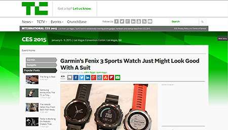Garmin's Fenix 3 Sports Watch Just Might Look Good With A Suit | TechCrunch