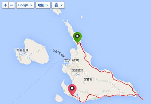 宮古島ワイドーマラソン50kmのコース