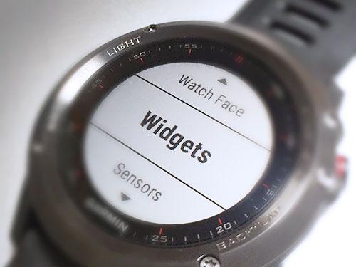 Garmin Fenix 3 浅いレビュー(3) Widgetsについて