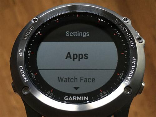 Garmin Fenix 3 浅いレビュー(5) Appsについて