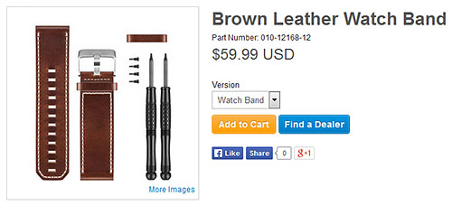 D2 Bravo用Brown Leather Watch Band