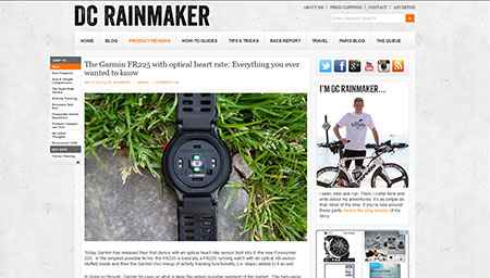 The Garmin FR225 with optical heart rate: Everything you ever wanted to know | DC Rainmaker